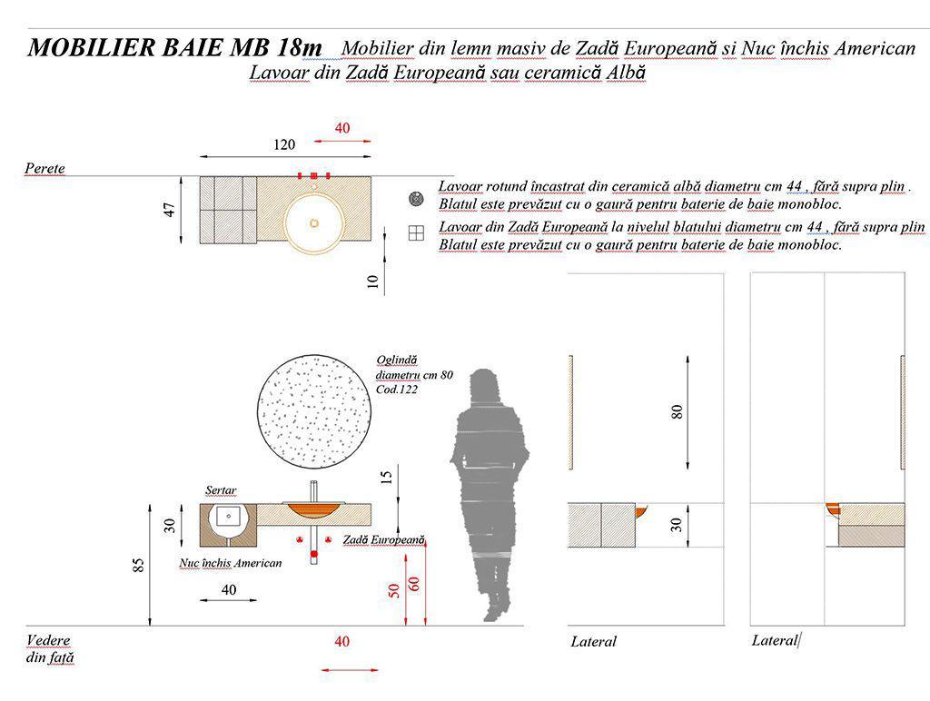 Mobilier baie din lemn MBE18 mobilier baie,mobilier lemn