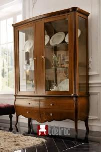 Vitrina FR001NE ,mobilier lemn masiv,mobila clasica