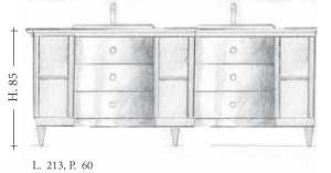 Mobilier Baie 117MB Mobila clasica din lemn