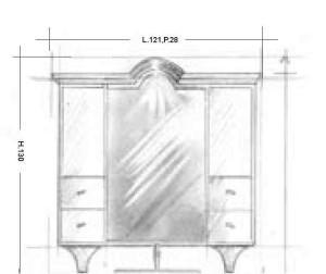 Oglinda 139MB Mobilier clasic din lemn