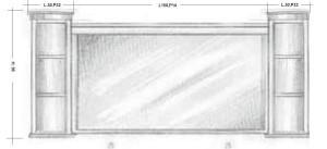 Oglinda 105MB Mobilier clasic din lemn