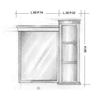 Oglinda 103MB Mobilier clasic din lemn