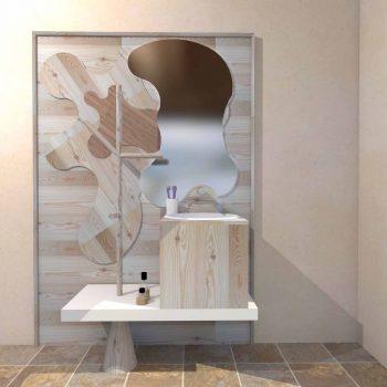 Mobilier baie din lemn MBE55