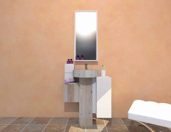 Mobilier baie din lemn MBE56