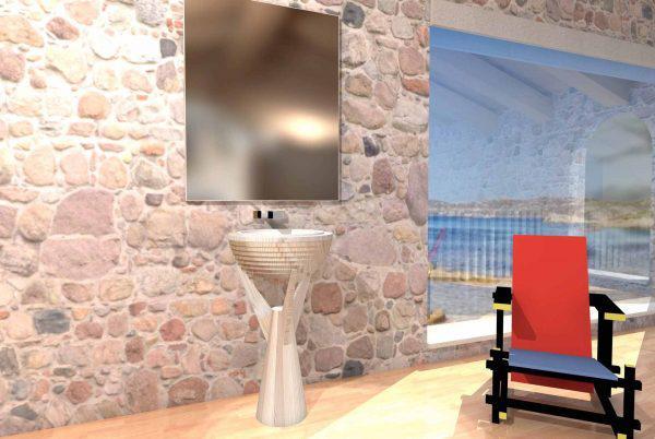 Mobilier baie din lemn MBE59