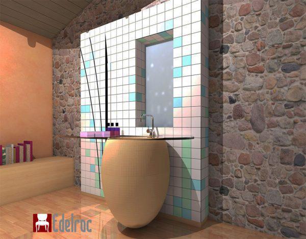 Mobilier baie din lemn MBE1A