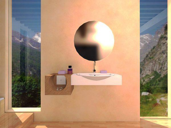 Mobilier baie din lemn MBE18