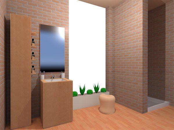 Mobilier baie din lemn MBE19