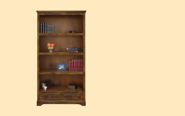 Biblioteca E9507 mobilier clasic din lemn masiv cu finisaj nuc sau antichizat