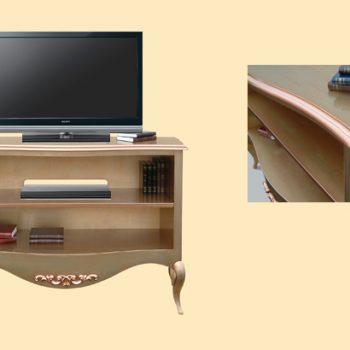Comoda tv curbata E8414 MetG cu dimensiunile 146