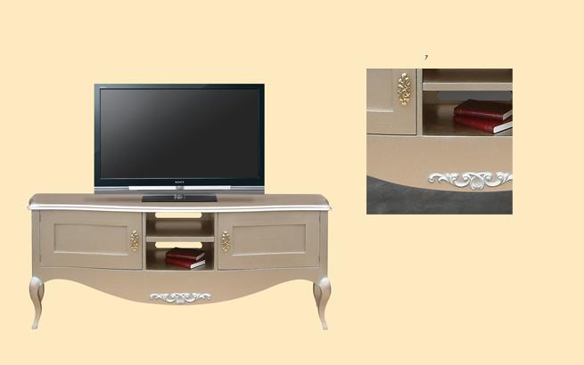 Comoda tv curbata E8415 MetA cu dimensiunile 190 x 47