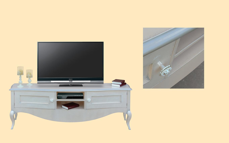 Comoda tv curbata E8415s Amp cu dimensiunile 190 x 47 x H 66 cm