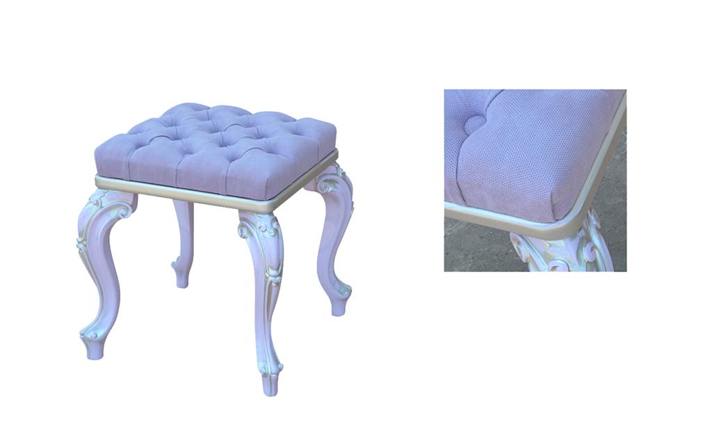 Bancheta tapitata ED6 ,mobilier clasic lemn, mobilier edelroc