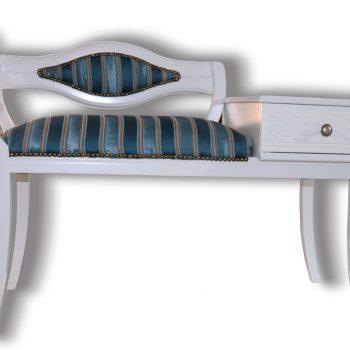 Bancheta-cu-Suport-Telefon-185S mobila baie stil clasic din lemn masiv