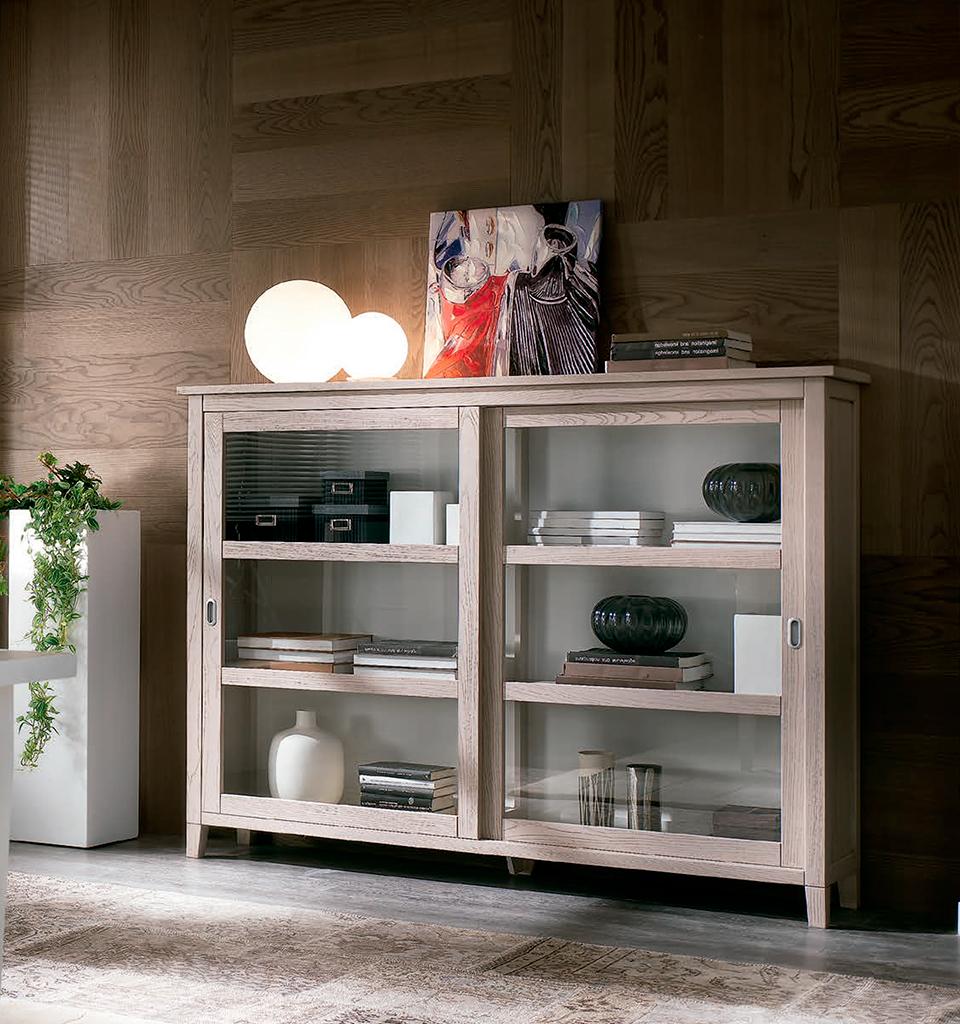 Biblioteca-E322T mobilier clasic lemn, mobilier edelroc